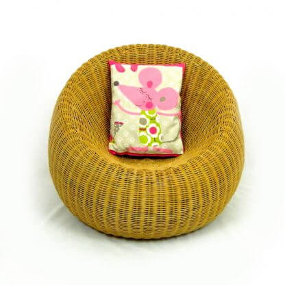pink mouse cushion chair