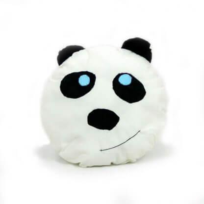 Panda kids cushions in white with velvet ears