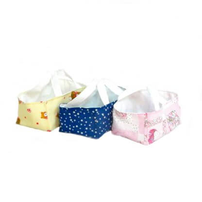 Fabric storage caddies for nappies