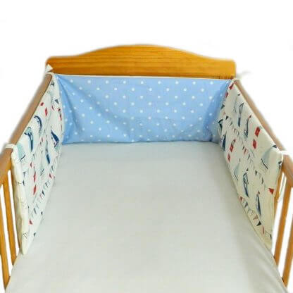 seaside cot bumper
