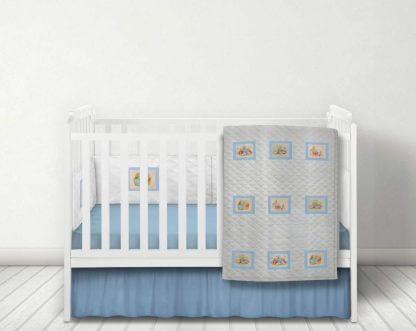 Beatrix Potter white quilted bedding set