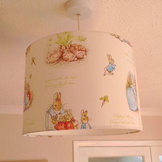 White Beatrix Potter lamp shade