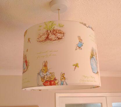 White Beatrix Potter lamp shade