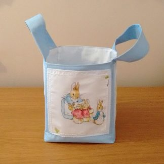Beatrix Potter fabric storage bag in blue
