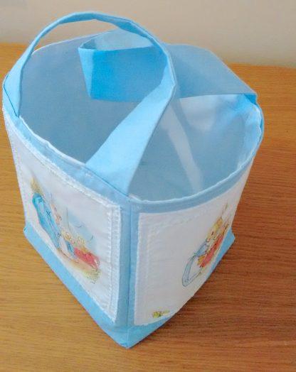 Beatrix Potter fabric storage box in blue