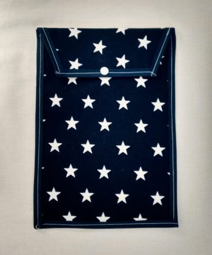 White star nappy pouch in navy