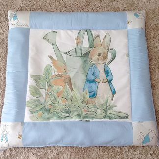 Peter rabbit baby play mat in blue