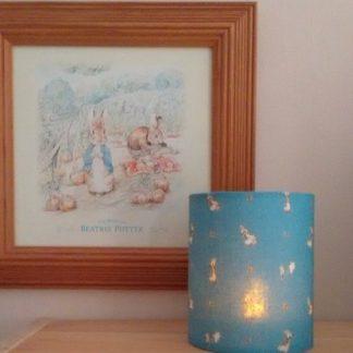Peter rabbit tea light holder in blue