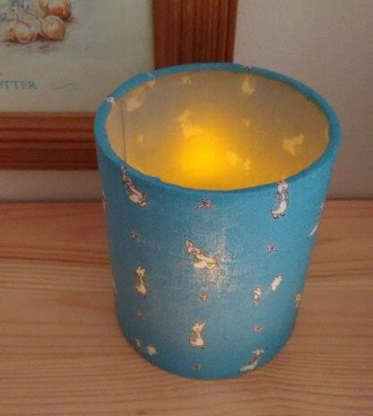 Peter rabbit tea light holder in blue