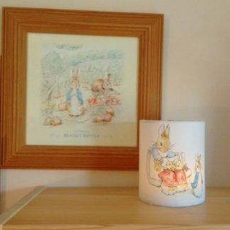 Beatrix Potter tea light holder in white