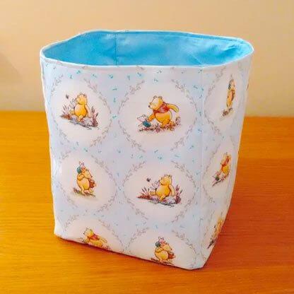 Winnie the Pooh fabric storage box in blue