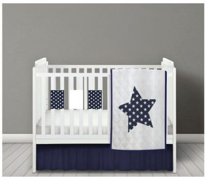 Navy bar bumpers with white stars