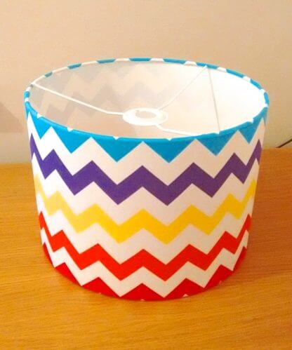 Lampshades in bright chevron design