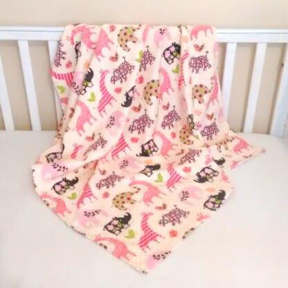 Baby girls receiving blanket