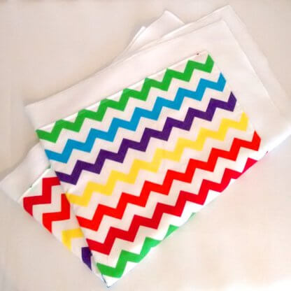 Colourful chevron baby blanket