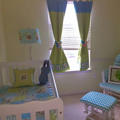 Custom made children's curtains