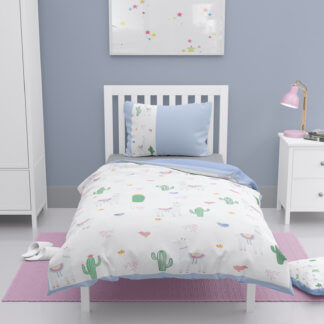 Toddler duvet cover with llamas