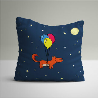 Fox themed kids cushions