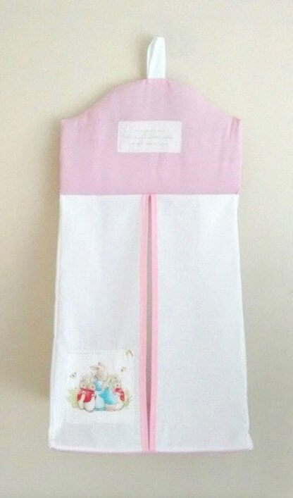 Beatrix Potter nappy stacker in pink