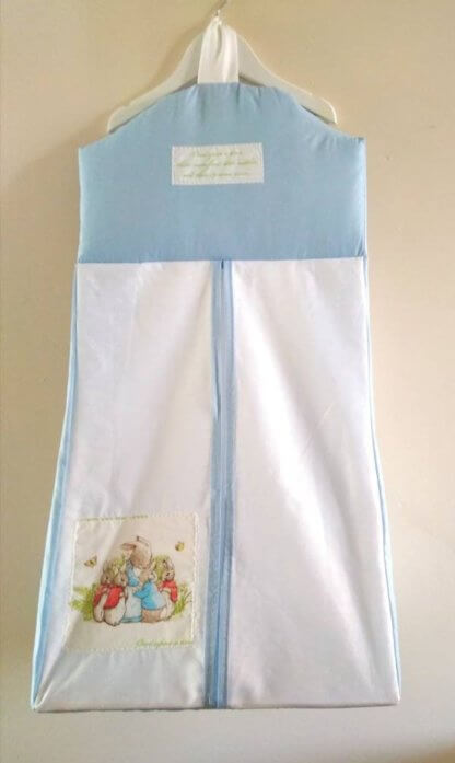 Beatrix Potter nappy stacker in blue