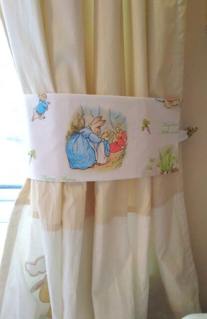Peter Rabbit curtain tie backs