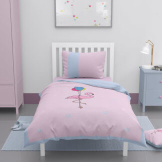 Flamingo toddler duvet set