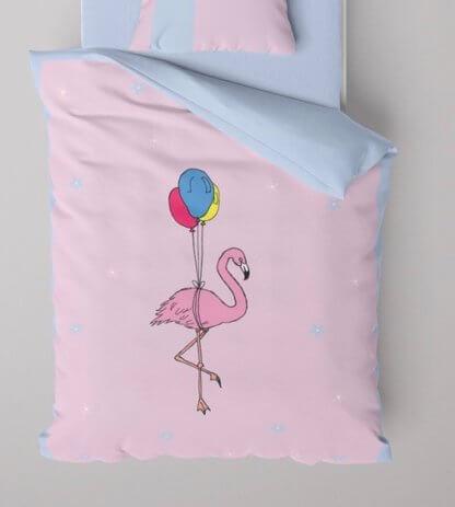 Flamingo toddler duvet set