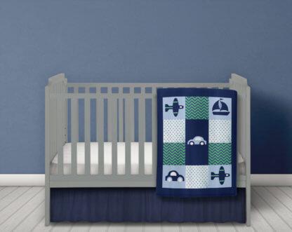 Baby boys car themed quilt