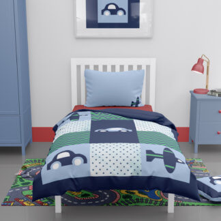 Toddlers car themed duvet cover