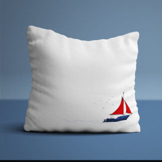 White nautical cushions
