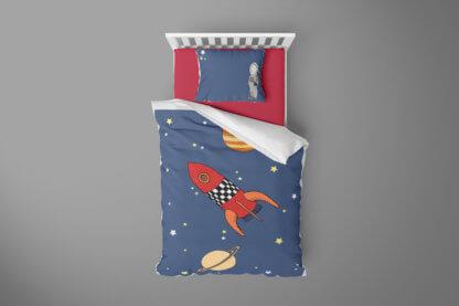 Space themed toddler duvet set