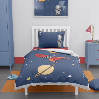 Space themed toddler duvet