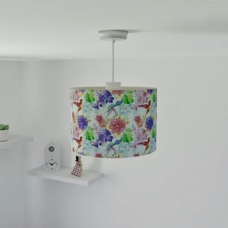 Floral bird lampshade
