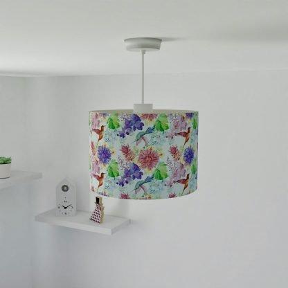 Floral bird lampshade
