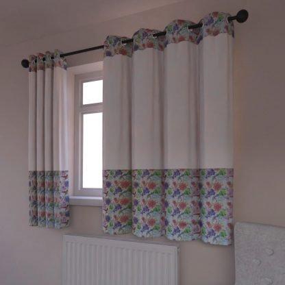 Floral bird curtains