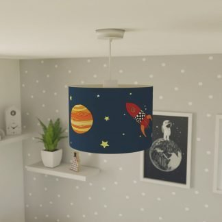 Children's space themed lampshade