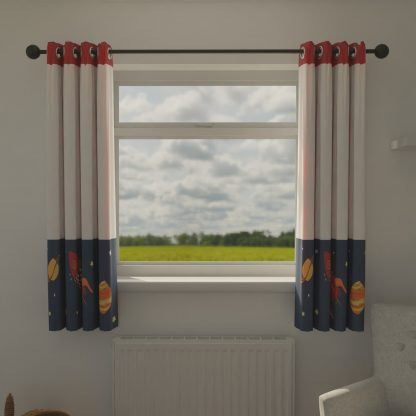 Space themed children's curtains
