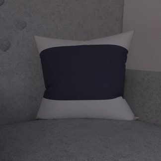 Navy and white striped cushion