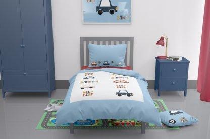 Car themed toddler duvet