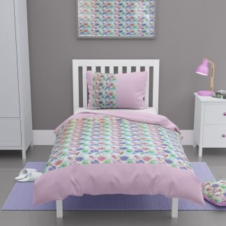 Girls toddler floral duvet cover