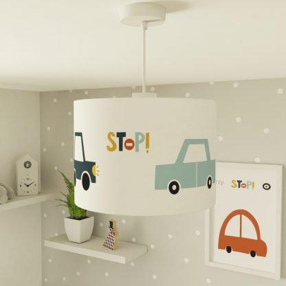 Car themed lampshade