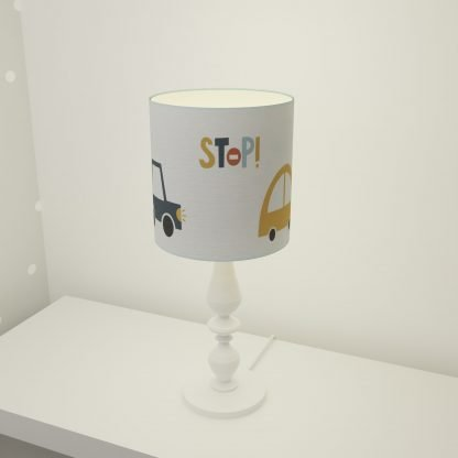 Car themed table lampshade