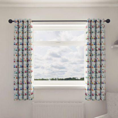 Traffic children's curtains