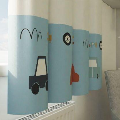 Car print curtains